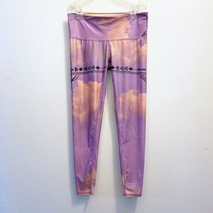Teeki Purple Haze Yoga Leggings Size L